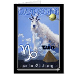 Capricorn Zodiac Birthday card