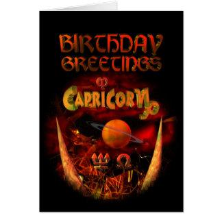 Capricorn Zodiac Birthday Greetings by Valxart Card
