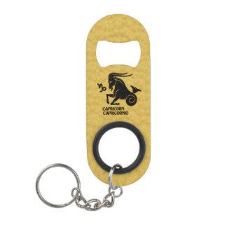 Capricorn Zodiac Black Gold Key-ring Bottle opener