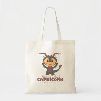 Capricorn Zodiac for kids Budget Tote Bag