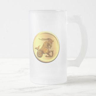 Capricorn Zodiac Frosted Beer Mug