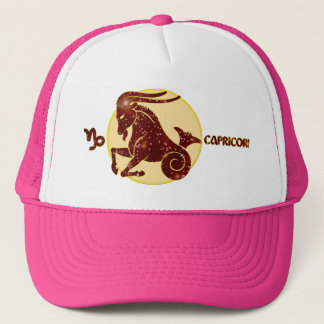 Capricorn Zodiac Garnet Design Modern Trucker Hat