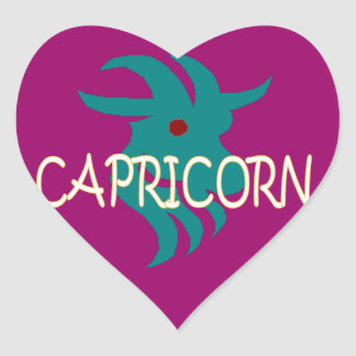 Capricorn zodiac heart sticker
