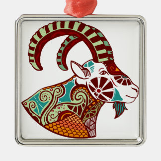 Capricorn Zodiac - Ibex Christmas Ornament