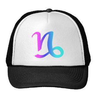 Capricorn Zodiac Pink Blue Aqua Gradient Trucker Hat