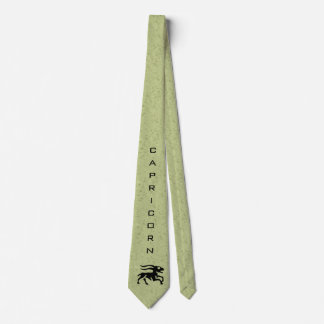 Capricorn Zodiac Sign and Name Green Tie