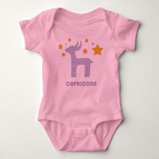 Capricorn zodiac sign baby bodysuit