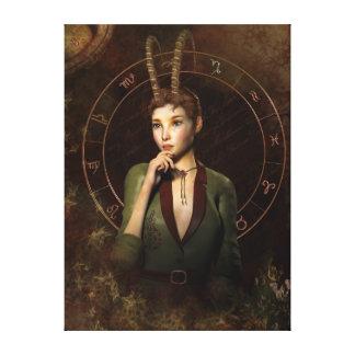 Capricorn zodiac sign canvas prints
