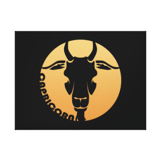 Capricorn Zodiac Sign Gallery Wrapped Canvas