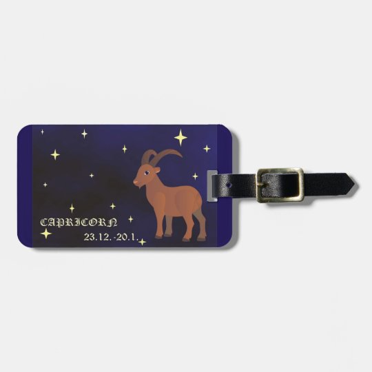 Capricorn zodiac sign luggage Tag