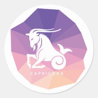 Capricorn zodiac sign modern stickers