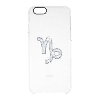 Capricorn Zodiac Sign on Fuchsia Digital Camo iPhone 6 Plus Case
