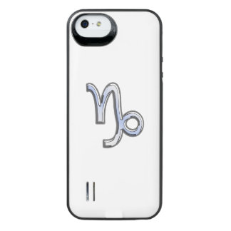Capricorn Zodiac Sign on navy blue digital camo iPhone 6 Plus Case