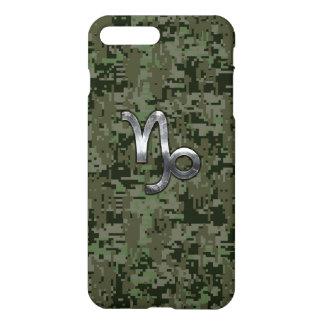 Capricorn Zodiac Sign on olive green camo iPhone 7 Plus Case