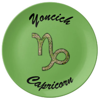 Capricorn Zodiac Symbol Element by K Yoncich Plate