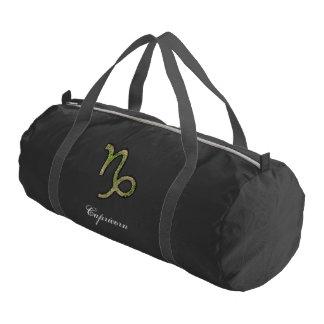 Capricorn Zodiac Symbol Element Gym Duffel Bag
