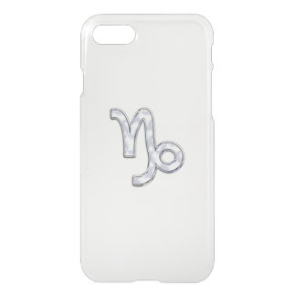 Capricorn Zodiac Symbol on Mother of Pearl Nacre iPhone 7 Case