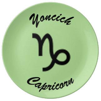 Capricorn Zodiac Symbol Standard by K Yoncich Plate