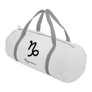 Capricorn Zodiac Symbol Standard Gym Duffel Bag