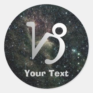 Capricorn Zodiac Universe Name Gift Tag Bookplate