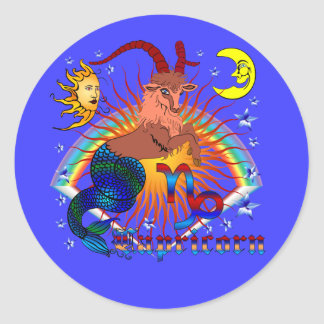 Capricorn-Zodiac-V-1 Round Sticker