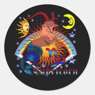 Capricorn-Zodiac-V-1 Classic Round Sticker