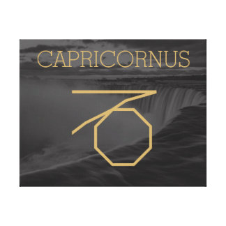 Capricornus Zodiac Sign | Custom Background + Text