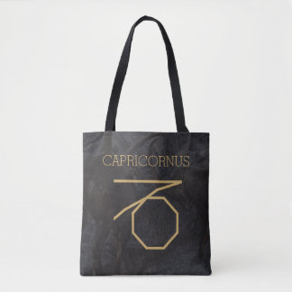 Capricornus Zodiac Sign | Custom Background + Text Tote Bag