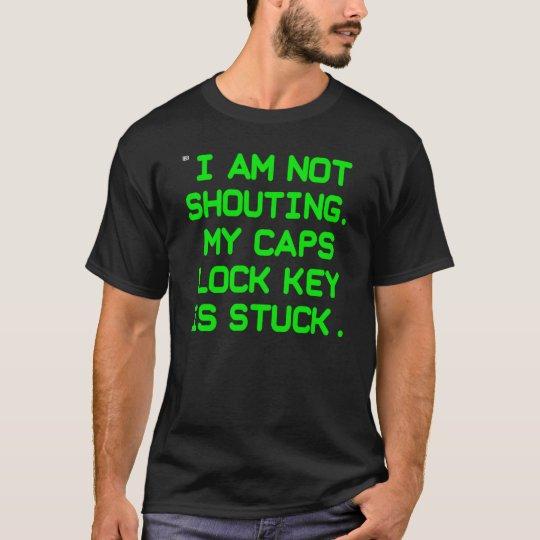 Caps Lock Key CRT (men) T-Shirt