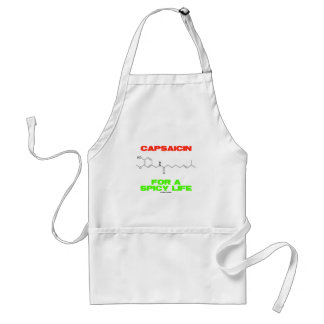 Capsaicin For A Spicy Life Chemical Structure Standard Apron