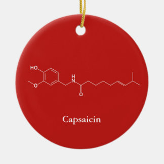 Capsaicin Molecule Chemistry Cute Chilli Lovers Christmas Ornament