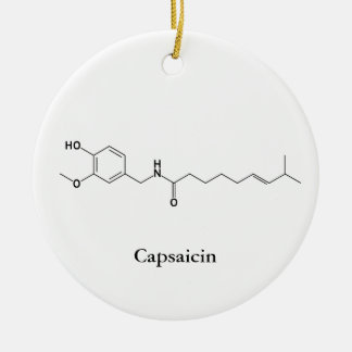 Capsaicin Molecule Chemistry Spicy Food Lovers Christmas Ornament