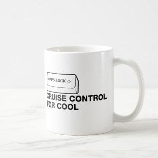 capslock - cruise control for cool basic white mug