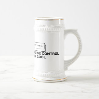 capslock - cruise control for cool 18 oz beer stein