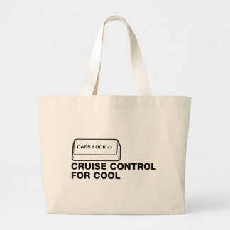 capslock - cruise control for cool jumbo tote bag