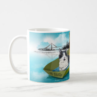 Capt Oliver & the SS OASis (Cat in boat mug) Basic White Mug