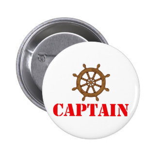 CAPTAIN 6 CM ROUND BADGE