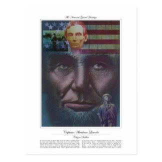 Captain Abraham Lincoln Citizen Soldier Postcard