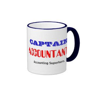 Captain Accountant Accounting Superhero Ringer Mug