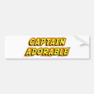 Captain Adorable Car Bumper Sticker