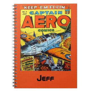 Captain Aero Comics Keep Em Flyin Notebook