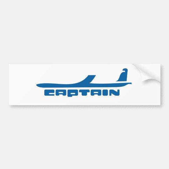 captain aeroplane design bumper sticker