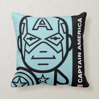 Captain America Stylized Line Art Cushion