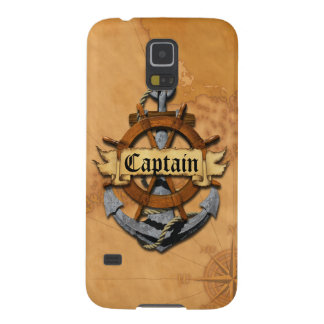 Captain Anchor And Wheel Galaxy S5 Case
