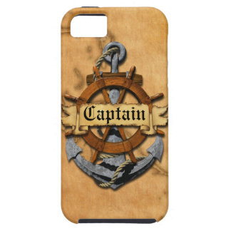 Captain Anchor And Wheel iPhone 5 Cases