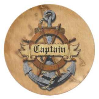 Captain Anchor And Wheel Plate
