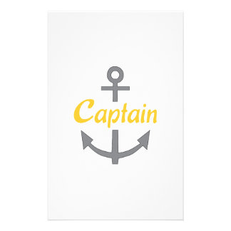 Captain Anchor Personalized Stationery