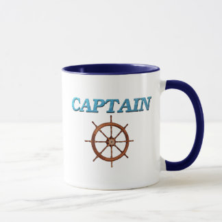 Captain and Captain's Wheel Mug