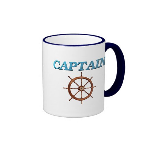 Captain and Captain's Wheel Mugs