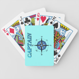 Captain And Compass Rose Bicycle Playing Cards